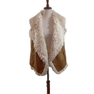 Two by Vince Camuto Suede/Faux Fur Vest-NWT-1X